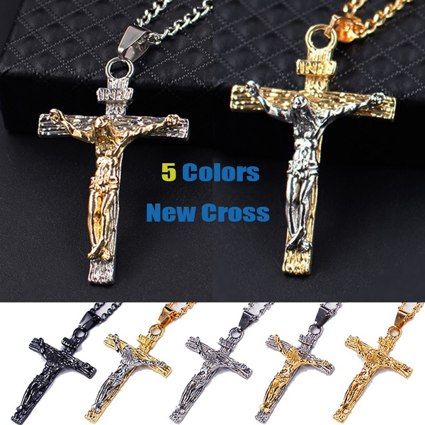 Fashion, Christian, Cross necklace, gold