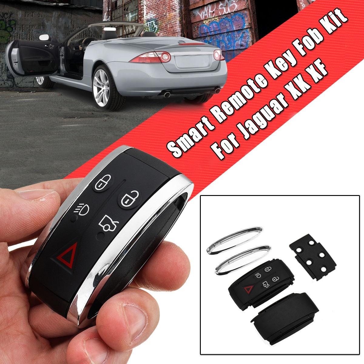 SGerste Remote Key Fob Chrome Trim Kit For Jaguar XF /& XK /& XKR #C2P15136