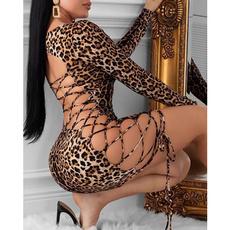 fashion women, Fashion, leopard print, Cocktail Party Dress