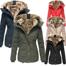 springwinter, casual coat, warm coat, Plus Size