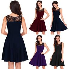 Mini, short dresses, Lace, Summer