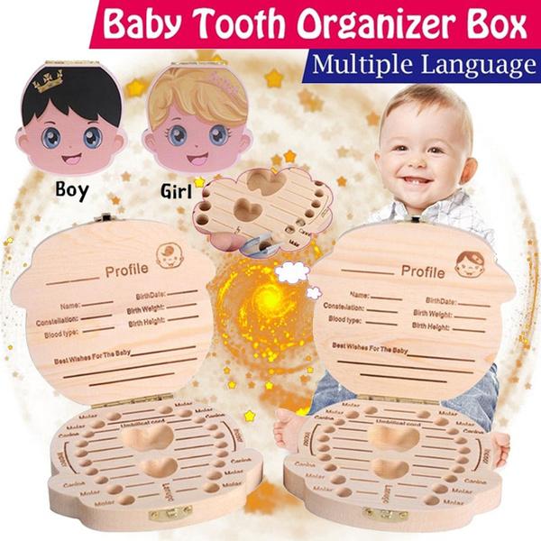 Box, babytoothstorage, babysouvenir, Wooden