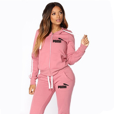 hooded, Fashion, women track suit, Long Sleeve