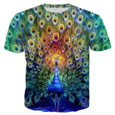peacock, Shorts, Shirt, Sleeve