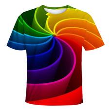 rainbow, Shorts, Shirt, Sleeve