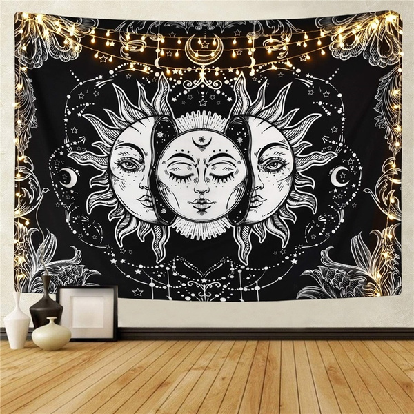 sunandmoon, black, Wall Art, Home & Living
