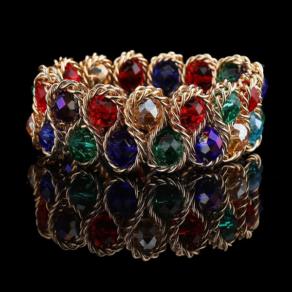 Crystal Bracelet, Chain, Bracelet, beadbracelet