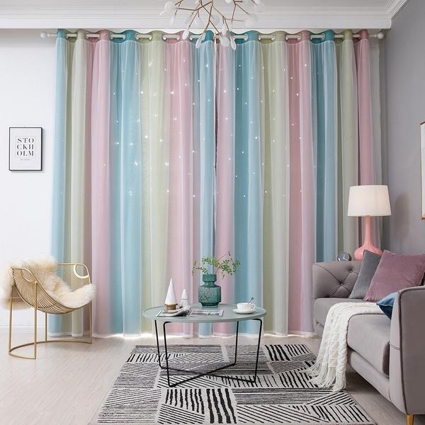 bedroom, homecurtain, Star, Home Decor