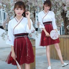 girlscostume, crossoverfrontshirt, chinesetraditionalcostume, ladieskimono