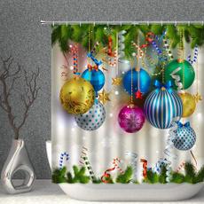 Bathroom, Christmas, Colorful, waterproofcurtain