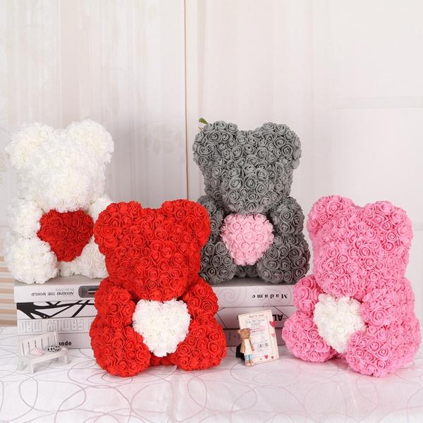 Flowers, Christmas, Gifts, rosebear