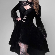 Women, GOTHIC DRESS, velvet, Lace