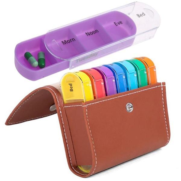 Box, case, pillbox, weeklymedicinecontainer