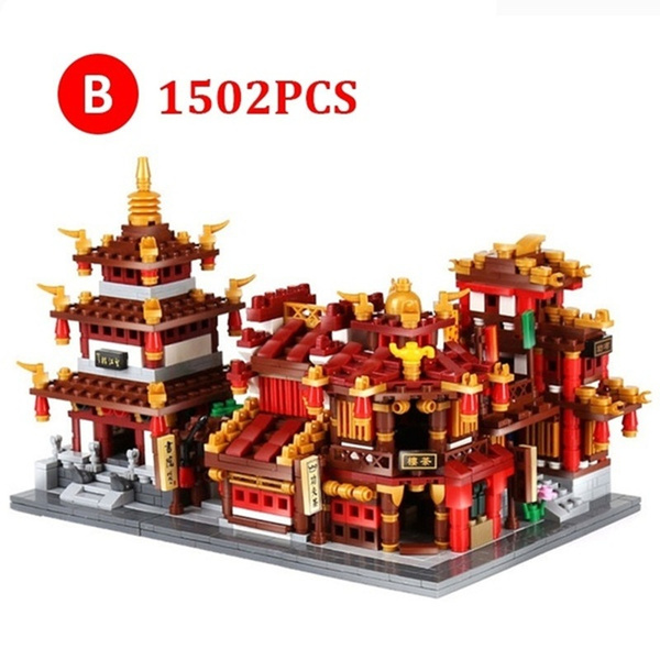 teahousebuildingblock, chinatownblocktoy, zhonghuastreetserie, Toy