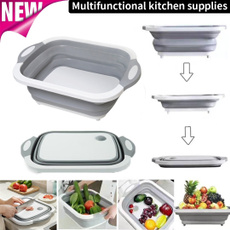 vegetablebasket, Kitchen & Dining, camping, siliconecuttingboard