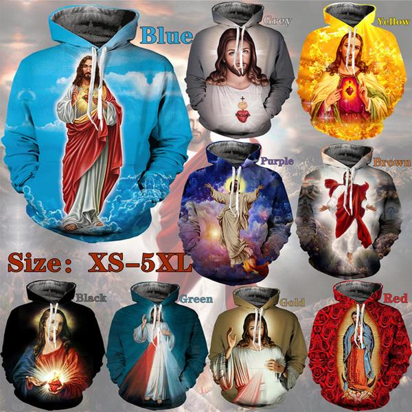 3D hoodies, Fashion, Christian, jesuscrosspattern
