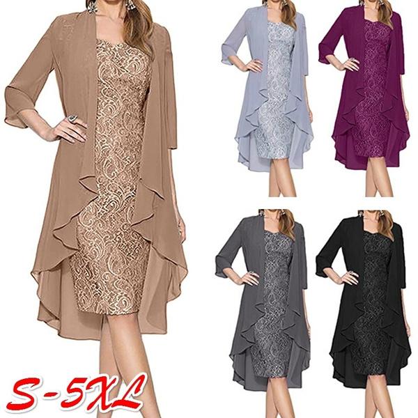 Fashion, Lace, knee, Formal Dress