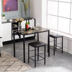 black, 3piece, kitchenfurniture, kitchenampdining
