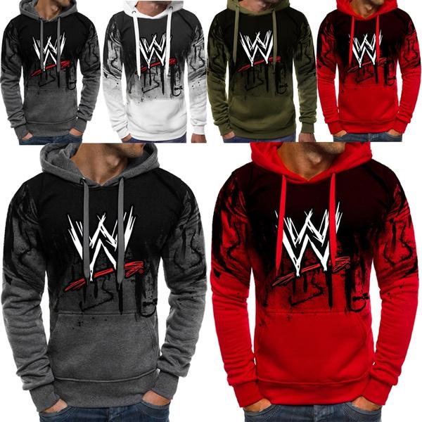 2020 Hot WWE Wrestling Stars Men Fashion Hoodies Long Sleeve Men's Hoodie  Cotton Printed Sport Casual Hooded Sweatshirts Jacket Tops | Wish