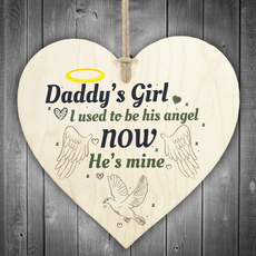 fathersdaygift, plaquesampsign, daughter, Home Decor