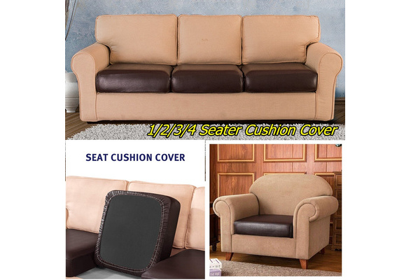 1 2 3 4 Seater Pu Leather Stretchy Sofa, Leather Sofa Cushion Covers Replacement
