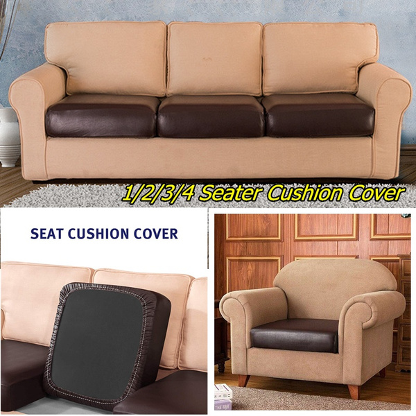 1//2//3//4 Seater Pu Leather Waterproof  Sofa Seat Cover Slip Covers Sofa Protector