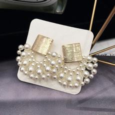 Women, Dangle Earring, Pearl Earrings, vintage earrings
