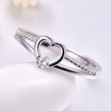 Heart, Silver Jewelry, DIAMOND, Love