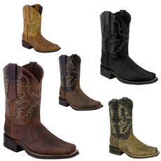 vintageboot, Leather Boots, Embroidery, Cowboy