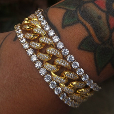 Crystal Bracelet, Fashion, gold, tennisbracelet