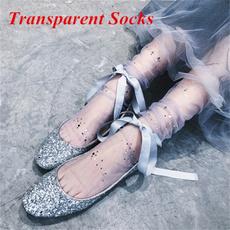 shinysock, transparentsock, womensock, Sockets