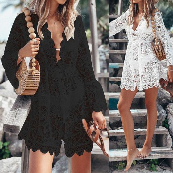 summerminidre, Summer, Plus Size, vneckminidre
