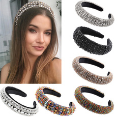 crown, Rhinestone, padded, Women's Fashion