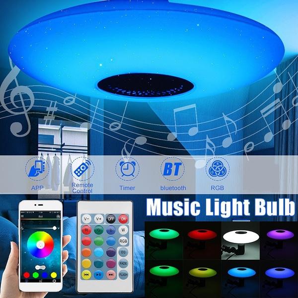 led, speakerceiliinglight, bluetooth speaker, Modern