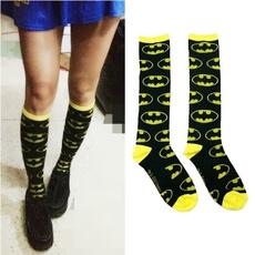 Superhero, Socks, knittedsock, longsock