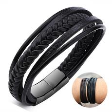 black bracelet, brown, Jewelry, Multi-layer