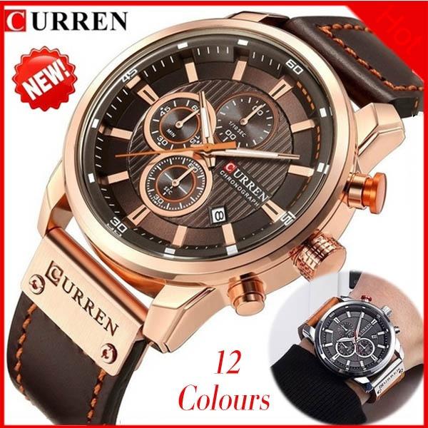 Fashion, herrenuhr, business watch, leather strap