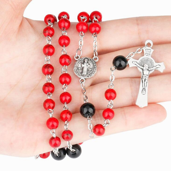redturquoisenecklace, Turquoise, Christian, Cross necklace