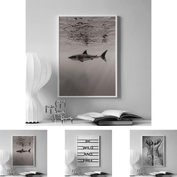 art print, Shark, Fashion, Wall Art