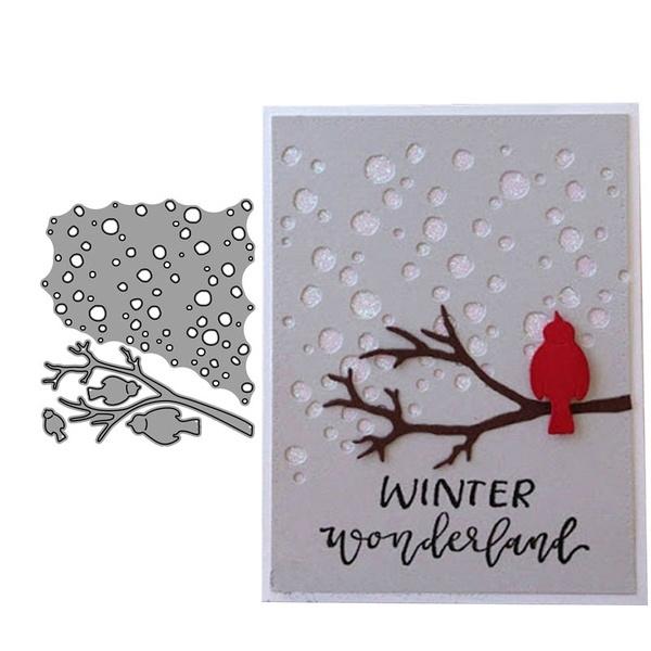 Card, stencil, branchcuttingdie, carddiycraft