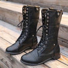 combat boots, midcalfboot, Winter, Combat