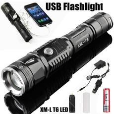 Flashlight, zoomflashlight, led, usb
