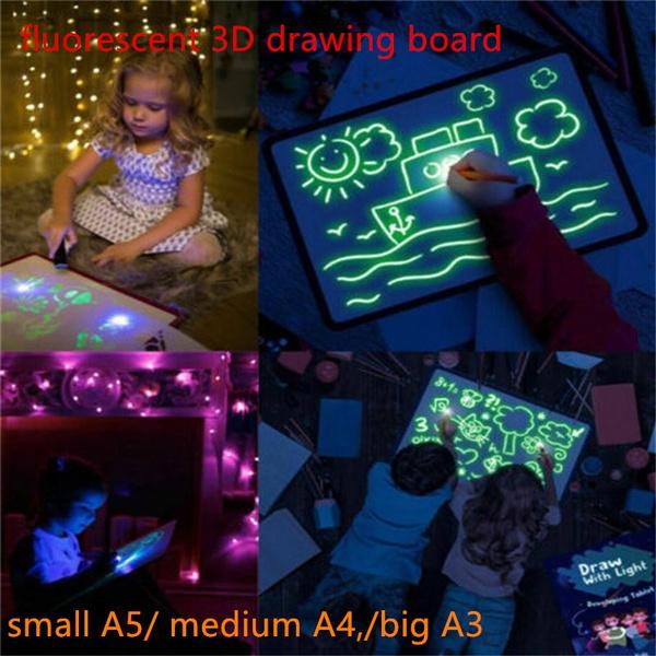 glowing, Graffiti, Board, fluorescent
