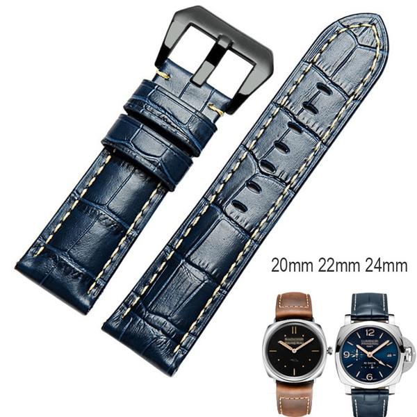 watchbandsformen, Blues, swarovskiwatchband, leather