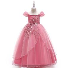 girlstullepartydre, gowns, girls dress, appliquesflower