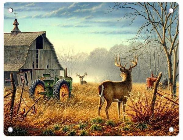 farmtractordeer, Farm, Posters, Deer