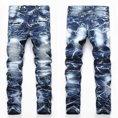 men jeans, motorcyclejean, straightjean, Elastic