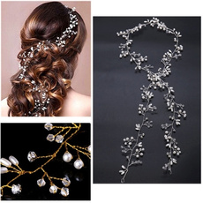Chain, bridalhairband, Rhinestone, hair