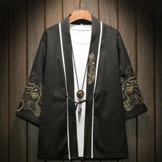 men coat, cardigan, embroiderykimonocoat, japanesejacket