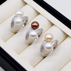 Sterling, womenssupplie, doublebead, 925 silver rings